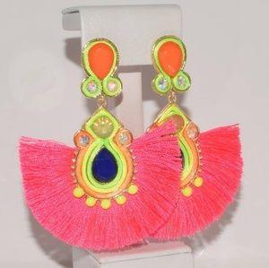 Neon bold earrings